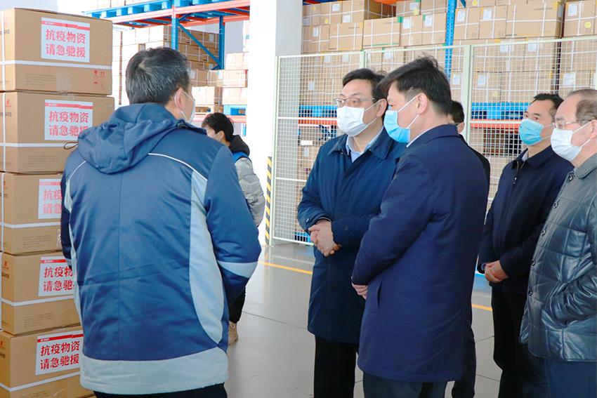 泰州市市長朱立凡蒞臨我司調研復工復產及防疫情況